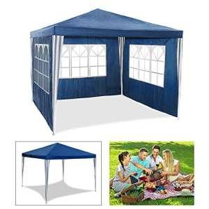 HG® 3 x 3 m Jardin Tonnelle Tente Stabilepartyzelte étanche Jardin Camping tente SG tubes d'acier stable de haute qualité Chapiteau bleu
