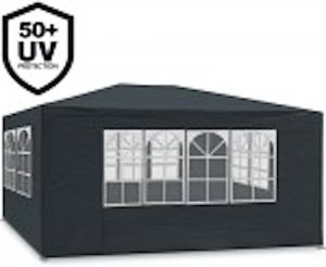 MAXX Tente de réception 3 x 4 m, 12 m² – Anthracite – à utiliser comme pavillon, pergola, tente de jardin, chapiteau ou tonnelle.