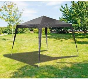 MAXX Tente de Réception 3 x 3 m, 9 m² – Anthracite – à Utiliser comme pavillon, Pergola, Tente de Jardin, chapiteau ou tonnelle.