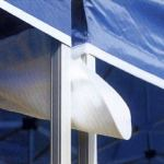 Interouge Gouttière 4m PVC 520g/m² Divers Coloris pour Barnum Pliant – Unité