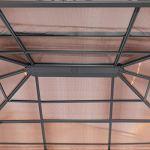 TOOLPORT Pavillon de Jardin Pavillon ALU Deluxe imperméable de 3×4 m avec Tente de réception à 4 côtés en Toit en PC translucide Bronze