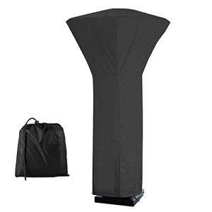 Housse parasol chauffant exterieur, couvercle de chauffe-terrasse Carré en Oxford 210D,Couverture de chauffage de patio imperméable, Housse de Chauffage exterieur Anti-poussière 81*81*221cm ( noir)