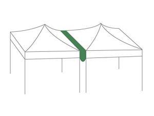 GREADEN Gouttière de 3M en 420D Polyester enduction PVC pour la Tente 40/50mm 2 * 3/3 * 3/3 * 4.5m avec Velcro
