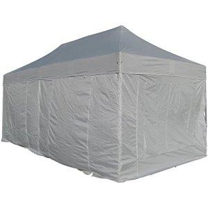 8x4m ALU Profi pliage tente marché des tentes étal 40mm quad avec des joints métalliques et BACHES IGNIFUGES