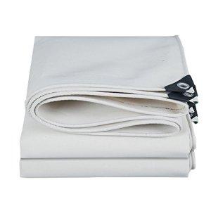 ChenCheng Bâche de Toile Blanche imperméable à l'eau Protection Solaire extérieure Anti-poussière Abat-Jour Coupe-Vent Anti-oxydation résistant à l'usure, épaisseur 0.8mm, -500 G/M², 9 Options de ta