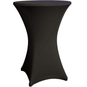 Expand Housse Pour Tables Hautes Noir – Couverture, Revêtement, Nappe Pour Tables Mange-Debout – Ø 80cm-86cm – Stretch
