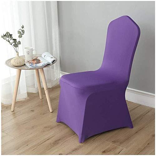 MWPO Housse de Chaise élastique Lavable pour Les Housses de siège latérales de Hauteur comptoir pour Les chaises carrées des hôtels (Couleur: Violet, Taille: 50 Pack)