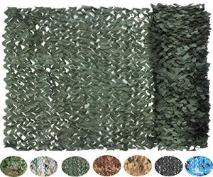 NICEFISH Masque de Camouflage Netting Netting Camouflage Militaire Camouflage Net Photographie décoration Fond Pare-Soleil Stores Chasse (Customize) (1.5x10M(5x33ft),Vert)