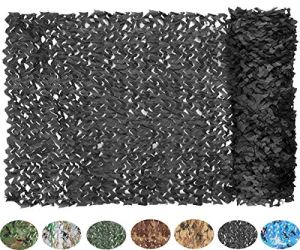 NICEFISH Masque de Camouflage Netting Netting Camouflage Militaire Camouflage Net Photographie décoration Fond Pare-Soleil Stores Chasse (Customize) (3x4M(10x13ft),Noir)