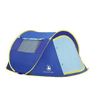 SongMyao Camping Tente Tente de Camping en Plein air Poids Famille dôme Pop-up instantanée logement Compact Portable Cabine Extérieure Instantanée Portable (Color : Blue, Size : Free Size)
