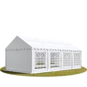 TOOLPORT Tente de réception/Barnum 4×8 m – ignifugee Blanc Toile de Haute qualité 500g/m² PVC Economy
