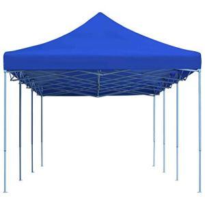 vidaXL Tente de Réception Pliable 3×9 m Bleu Pavillon Jardin Terrasse Tonelle