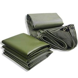 WXX-tarpaulin Outdoor Bâche dague Tissu Vert Heavy Duty imperméable crème Solaire Haut de Gamme de qualité Canopy épais Toile Tricycle Couvertures de Tapis de Sol (550g par mètre carré) (Size : 5×5m)
