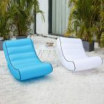 Canapé gonflable en plein air Canapé Chaise longue Plage Camp Chaise Longue pour Camping Randonnée Tapis de pique-nique Jardin Pouf Sac Hamac à air, 10