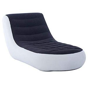 Canapé-lit Gonflable,PVC Blanc Canapé Gonflable Matelas pneumatique canapé Gonflable Fauteuil lit Lounge Soft Furniture Bed Seat pour Living Backyard Camping,165x88x79cm / 64.96×34.65×31.10inch