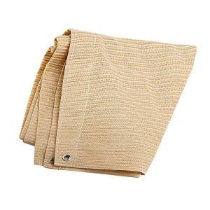 Anuo – Tissu de protection solaire en maille pour ombrage – 85 % de pergola – Bord adhésif avec œillets – Pour plantes de jardin, grange, chenil, bâche, Polyéthylène, beige, 2x4m/6x12ft
