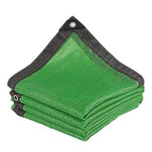 Anuo – Toile de soleil en tissu avec œillets – 80 % de protection solaire – Tissu rectangulaire pour jardin – Pergola – Pour niches – Bâche, Polyéthylène, Vert, 2x4m/6x12ft