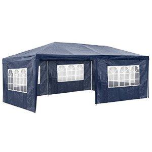 TecTake 800382 Tonnelle Tente Gazebo Pavillon de Jardin d'événement pour Fête 3×6 m – diverses Couleurs – (Bleu | No. 402302)