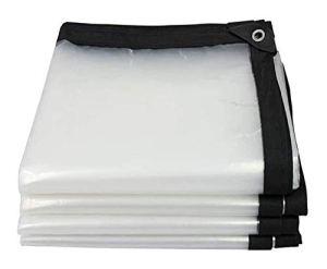 XZ Store enrouleur transparent, pluie rideau bâche transparente, balcon fenêtre de pluie en tissu plastique étanche à la pluie housse imperméable rideau étanche à l'eau ( Color : Clear , Size : 3x6m )