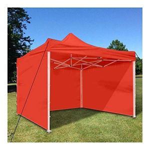 SSGLOVELIN Tissu Oxford Tente Mur côté Jardin Patio extérieur étanche NO Canopy 3x3m Sun Mur Pare-Soleil Abri Tarp Flanc Sunshad (Color : Red)
