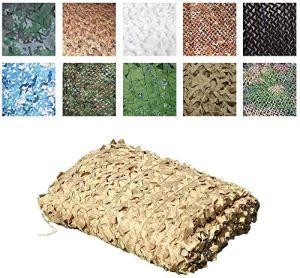 Filet de camouflage beige 3 x 4 m 3 x 5 m pour jardin, voiture, camping, extérieur camouflage imperméable – Dimensions : 6 x 6 m (taille : 2 x 3 m)