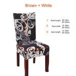 Fuloon – Housse de chaise extensible – Lot de 4/6 housses de chaise amovibles et lavables – Pour hôtel, salle à manger, cérémonie, banquet, décoration de fête de mariage