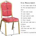 MWPO Housse de Chaise élastique Lavable pour Les Housses de siège latérales de Hauteur comptoir pour Les chaises carrées des hôtels (Couleur: Rouge foncé, Taille: 50 Pack)