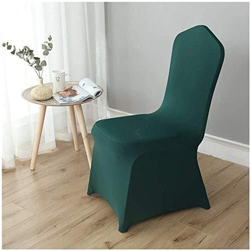 MWPO Housse de Chaise élastique Lavable pour Les Housses de siège latérales de Hauteur comptoir pour Les chaises carrées des hôtels (Couleur: Vert foncé, Taille: 50 Pack)