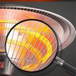 Parasol Chauffant Commercial – Electrique Chauffage d'extérieur en acier inoxydable