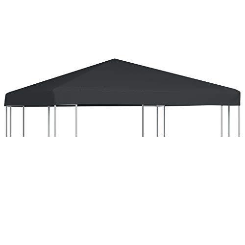 Bâche de pavillon anti-vent CFG 310 g/m2 3 x 3 m anthracite