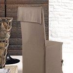 Home Style France Housse de Chaise, Coton, Taupe, 95x40x1 cm