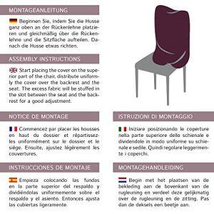 Housses de chaises SCHEFFLER-HOME Natalie 2 pièces, Couverture Spandex, revêtement de chaise, housses élastiques, couvre-chaises en coton – Noir