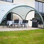 Coleman Event Shelter M, pavillon 3x3m, pavillon de jardin contre le pluie, chapiteaux pour les festivals, le jardin et le camping, armature en acier solide, grand chapiteau, protection solaire