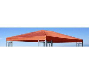 Grasekamp 48417 Toit de Rechange Universel Aspect Aluminium Terre Cuite 3 x 4 m