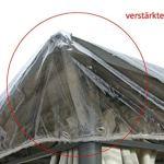 Grasekamp Bâche de Protection pour pavillon Transparent 3 x 3,6 m