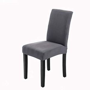 Housse de chaise 4 pièces Housse de protection élastique moderne, Housse de salle à manger amovible lavable Housse de chaise pour salle à manger Bouquet de mariage moderne, Hôtel(Taupe)