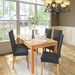 Housse de chaise Décor 4pièces housse de chaise Stretch-Housse Couverture de chaise de matériau spandex élastique pour un ajustement universel,très facile à nettoyer durable(Paquet de 4,Gris Foncé)