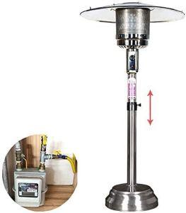 Parasol chauffant gaz exterieur Extérieur Radiateurs, avec le poids de base monté, fabriqué à partir de gaz en acier inoxydable extérieur Chauffe autoportant, étanche, extérieur ou intérieur Utilisati