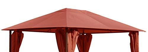 QUICK STAR Toit de remplacement pour gazebo de jardin 3x4m Orange-rouge