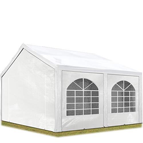 Tente Barnum de Réception 3×4 m PE Bâches Amovibles 200-240 g/m² BLANC / Jardin Tonnelle Pavillon Chapiteau