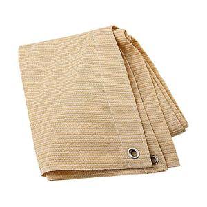 Anuo – Tissu de protection solaire – 85 % polyester – Avec œillets – Pour plantes de jardin, grange, chenil, bâche, Polyéthylène, Noir , 3x4m/9x12ft
