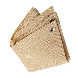 Anuo – Tissu de protection solaire avec œillets – Toile de protection contre le soleil – Pour plantes de jardin, grange, chenil, bâche, Polyéthylène, beige, 3x4m/9x12ft