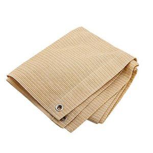 Anuo – Tissu de protection solaire en maille pour ombrage – 85 % de pergola – Bordure de protection avec œillets – Pour plantes de jardin, grange, chenil, bâche, Polyéthylène, beige, 3x4m/9x12ft
