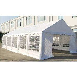 Bassette Tente de réception fête extérieur 10×5 m Festival avec Toile Hydrofuge Blanc