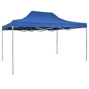 BBalm Tente de réception professionnelle pliable en acier Bleu 3 x 4 m