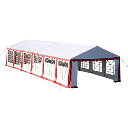 BBalm Tente de réception Rouge 12 x 6 m