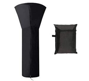 Housse pour Parasol Chauffant Tissu Oxford 210D Imperméable avec Fermeture à Glissière, H87 x P33,46 x 18,9 Pouces / 221 x 85 x 48 cm Noir