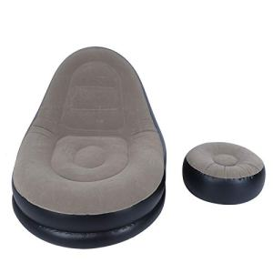 MAGT Canapé Gonflable, Chaise de canapé inclinable Pliable Confortable et Confortable de Style Moderne avec Repose-Pieds pour Salon Balcon Jardin