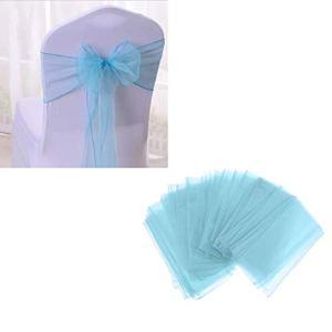 Milageto 50x Housse de Chaise Ornements de Cravate Ornements de Fête D'anniversaire de Mariage Restauration