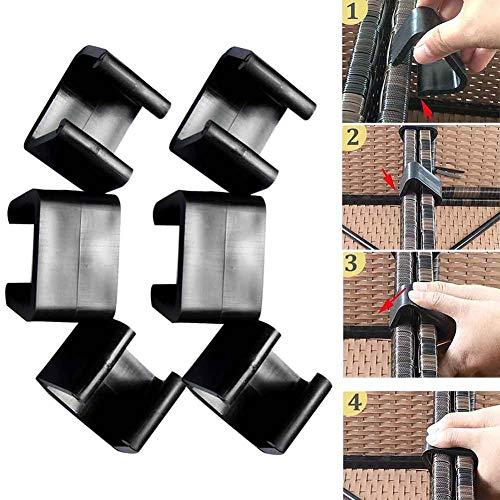 TXYFYP Paquet de 10 Patio d'extérieur Meubles en rotin Clips Fixations Clips Canapé Clip Alignement Fixations Clip Connecteur sectionnel pour Meubles en rotin Canapé de Jardin